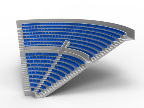 364 STANDARD SEATS FOR A ZEUGO CORNER STAND
