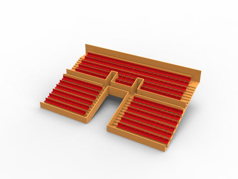 254 STANDARD SEATS FOR A TWO TIER VINTAGE SUBBUTEO GRANDSTAND (TUNNEL VERSION)