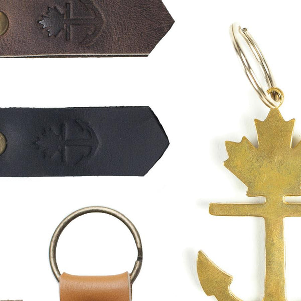 Leather-Brass-Keychains