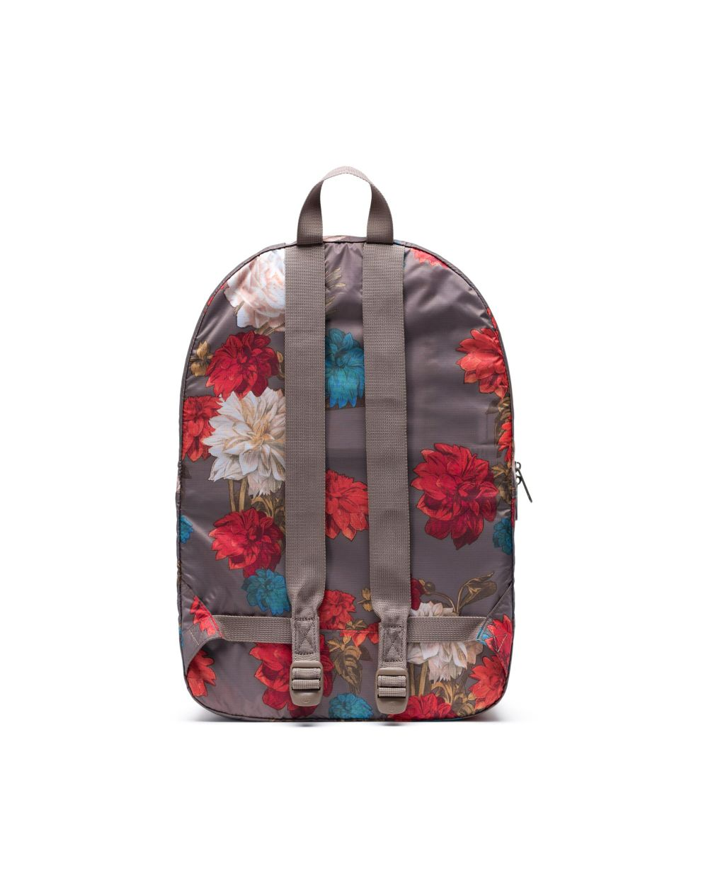 Packable Daypack x Vintage Floral Pine Bark