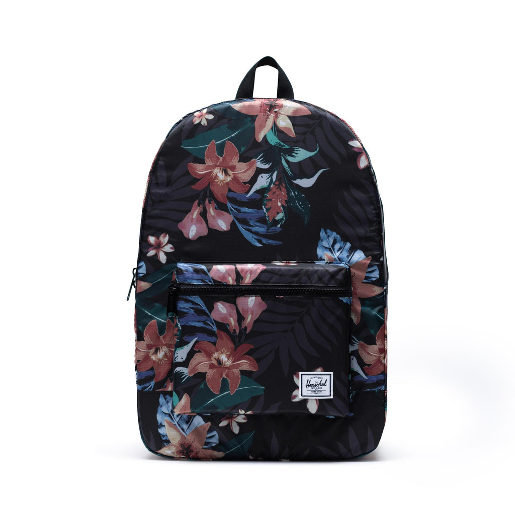 Packable Daypack x Summer Floral Black