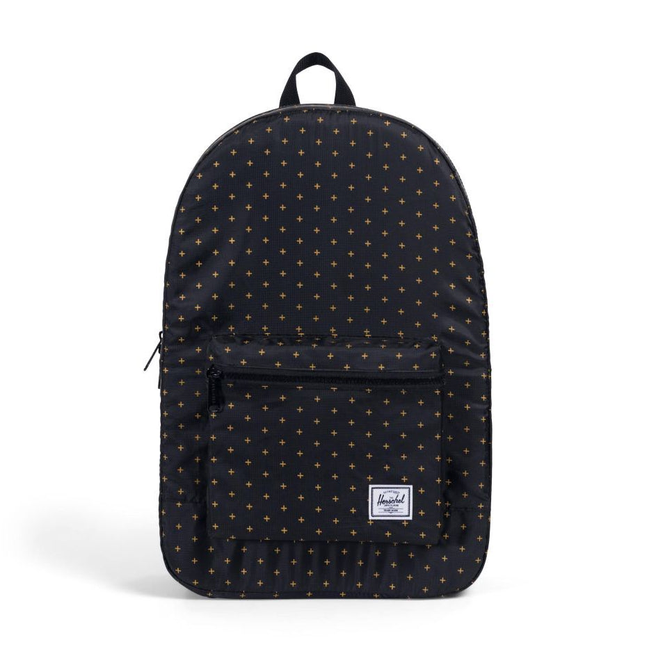 Packable Daypack x Black Gridlock Gold