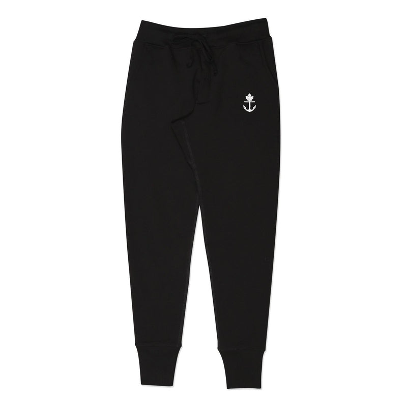 Heavy-Duty Black Joggers