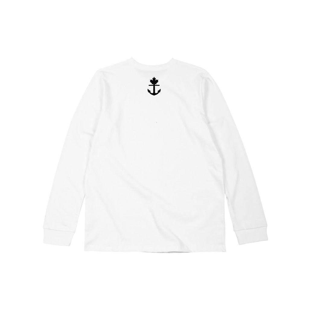 Flying V Heavy Duty White Long Sleeve