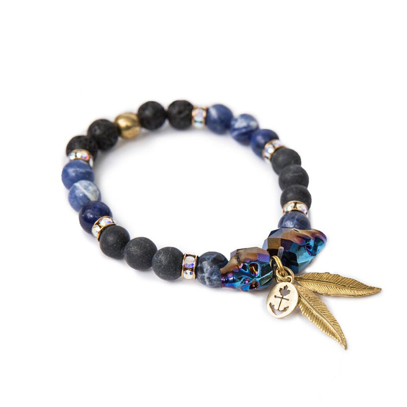 Classic Anchor Faceted Bracelet