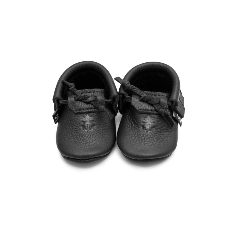 Black Baby Moccasins
