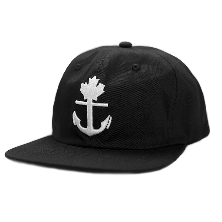 Classic Black Unstructured Snapback