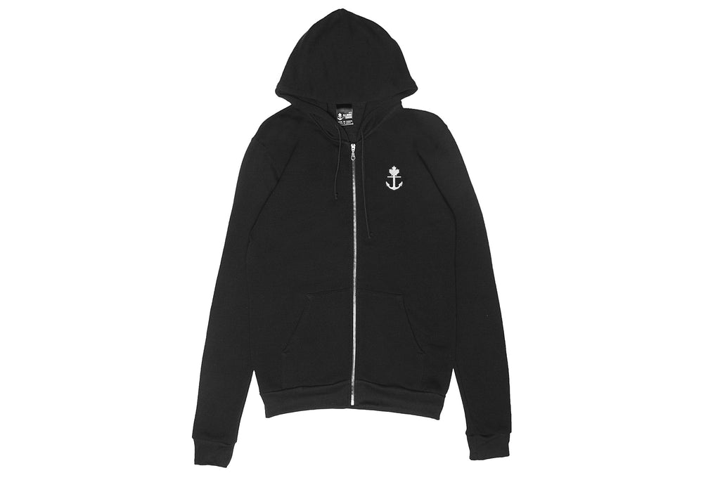 Simple Black Full Zip Hoodie