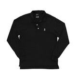 Black Classic Long Sleeve Polo