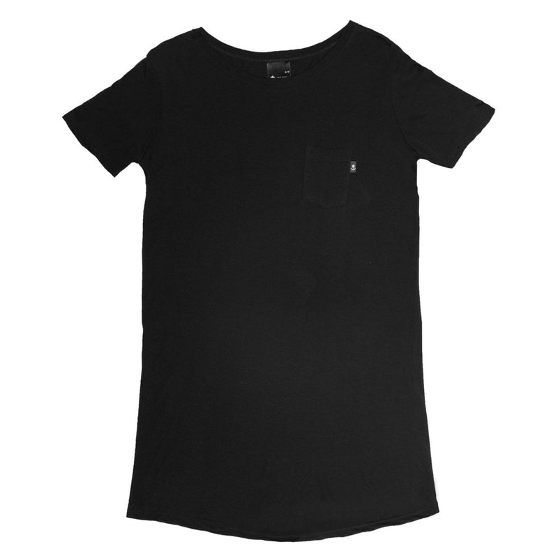 Women's Black T-shirt Dress