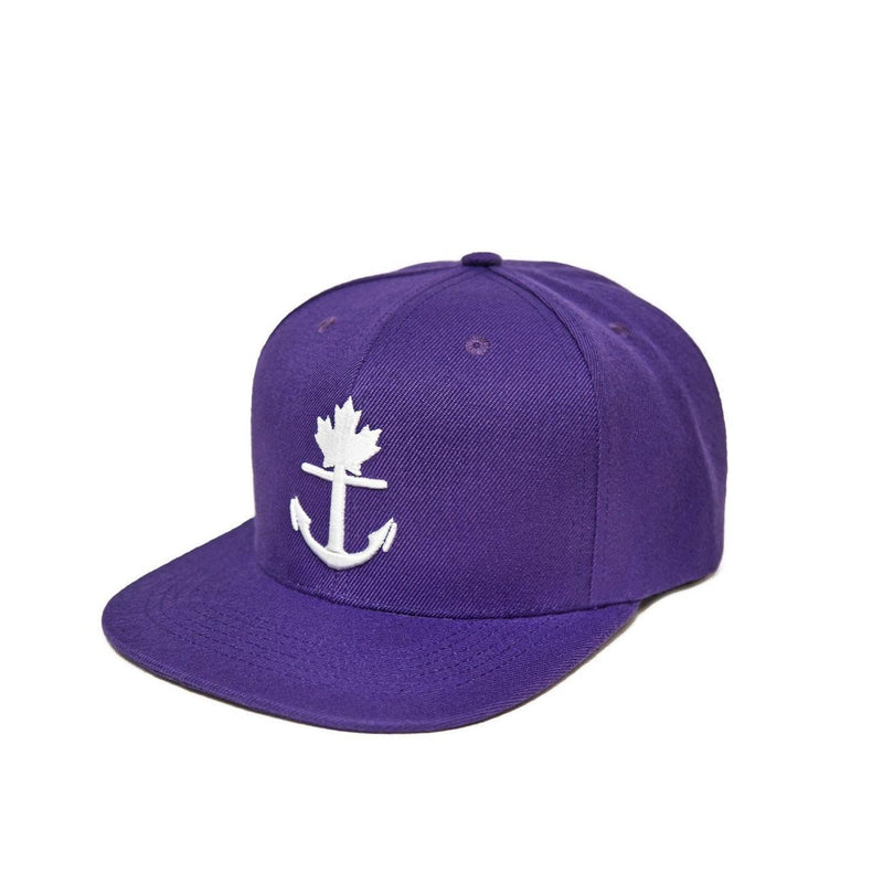 Classic Purple Anchor Snapback