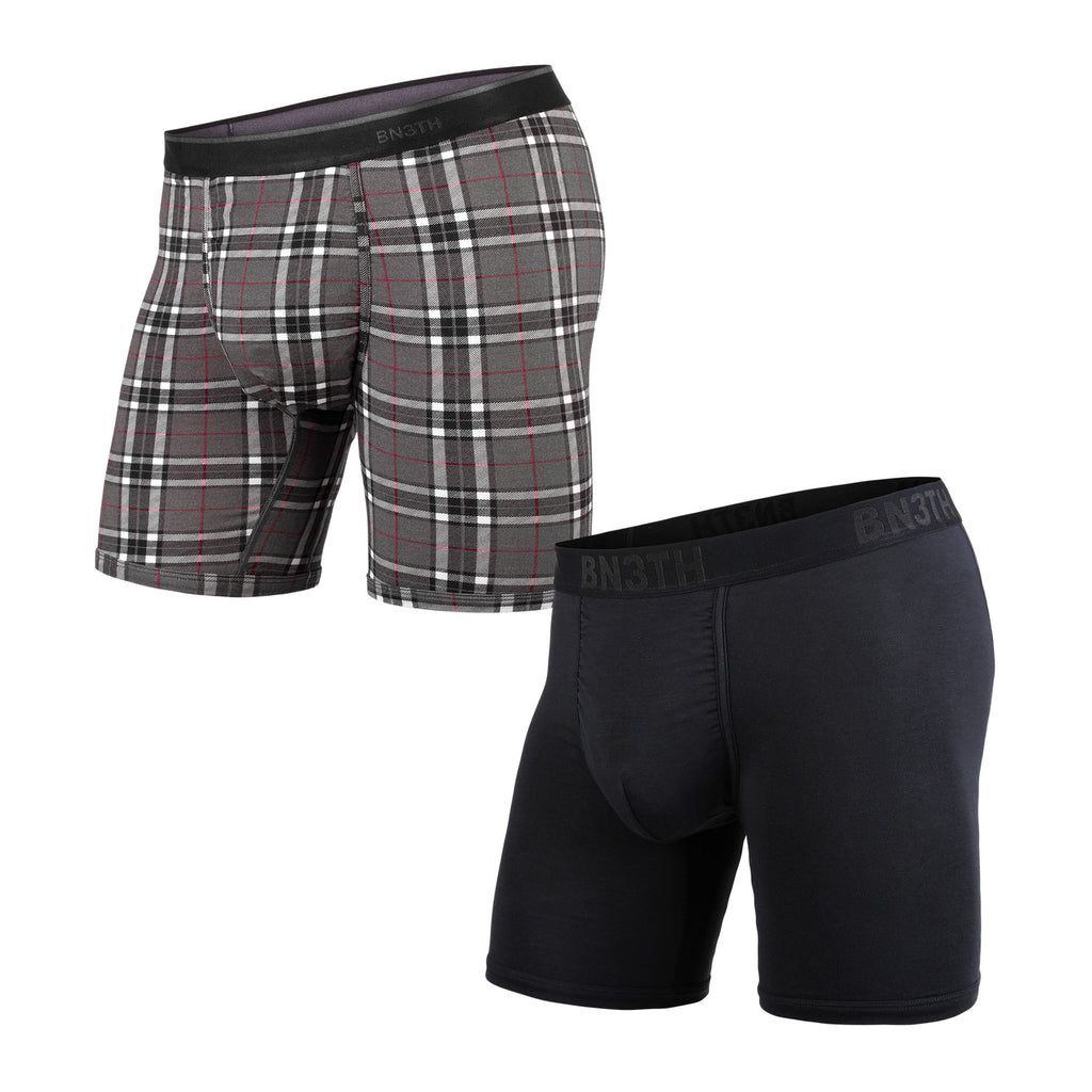 BN3TH Boxer Brief x 2-Pack Black Fireside Plaid