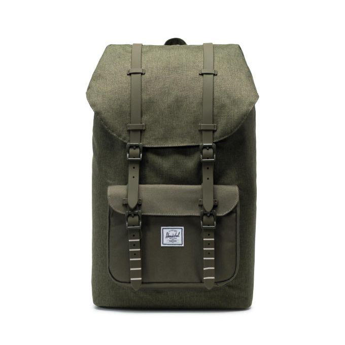 Little America Backpack x Olive Night Crosshatch