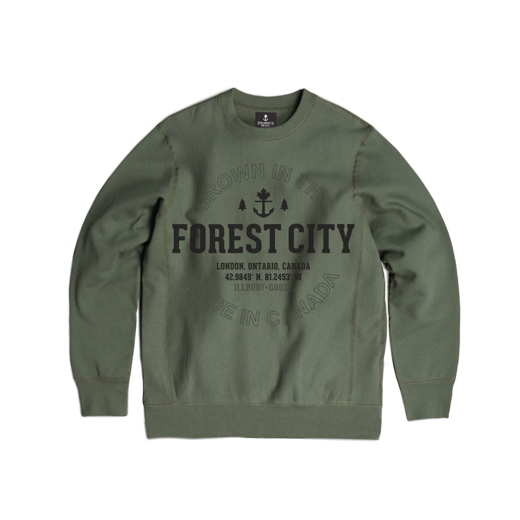 Heavy-Duty Forest City Crewneck Sweater