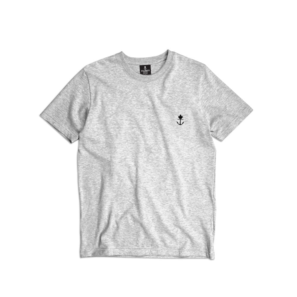 Heavy-Duty Grey Embroidered Classic T-Shirt