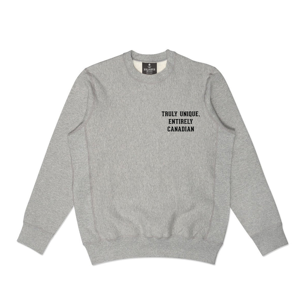 Heavy-duty Grey Standard Crewneck Sweater