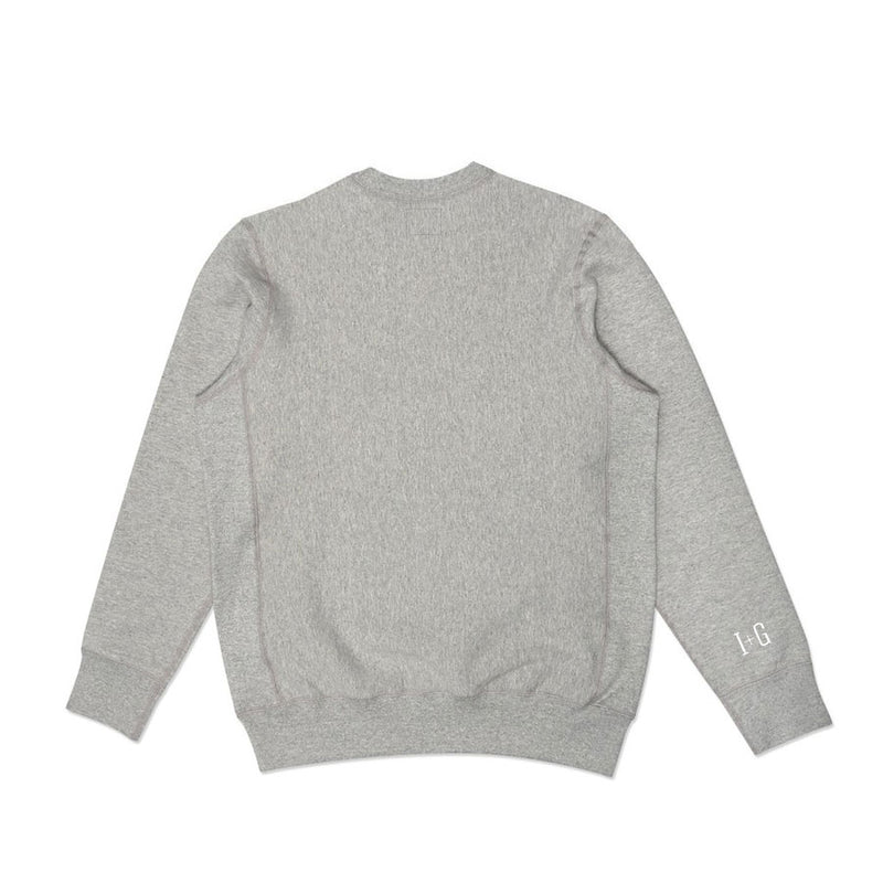 Heavy-duty Grey Classic Crewneck Sweater