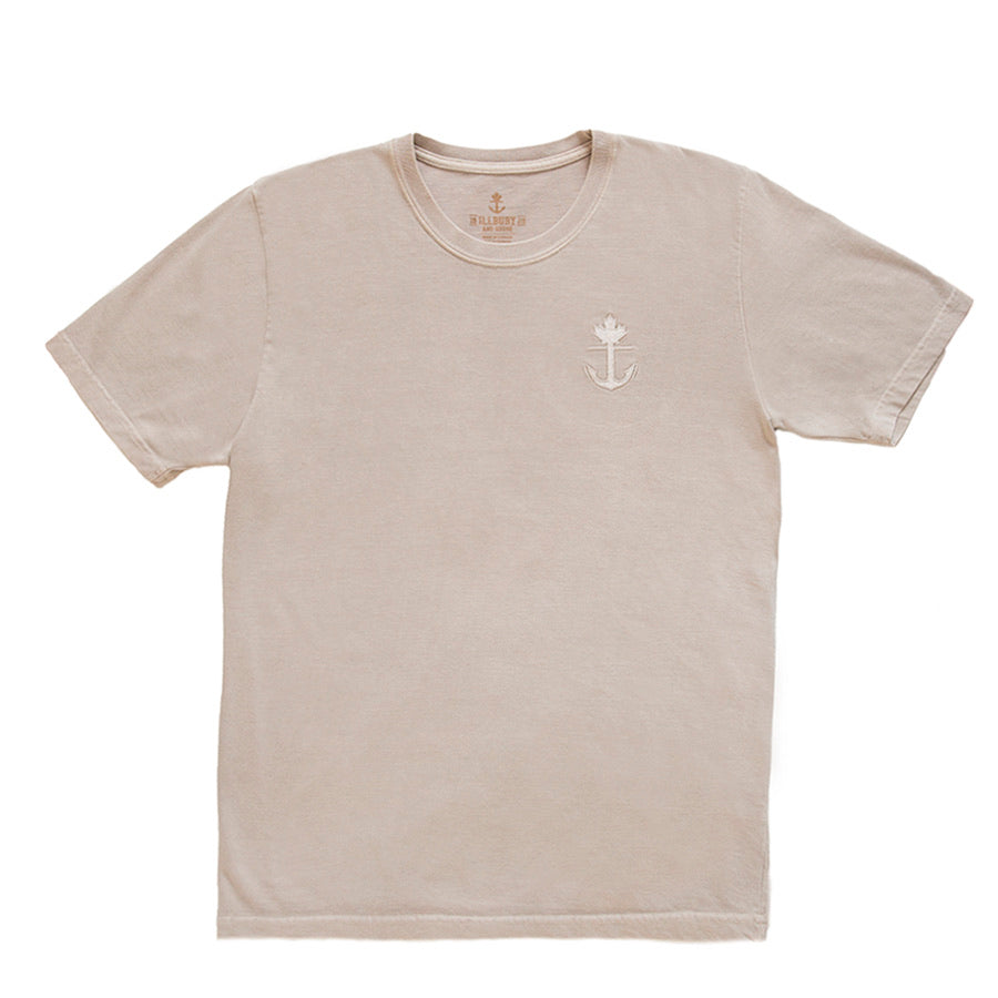 Raw Cashew Embroidered 100% Cotton Heavy-Duty T-shirt