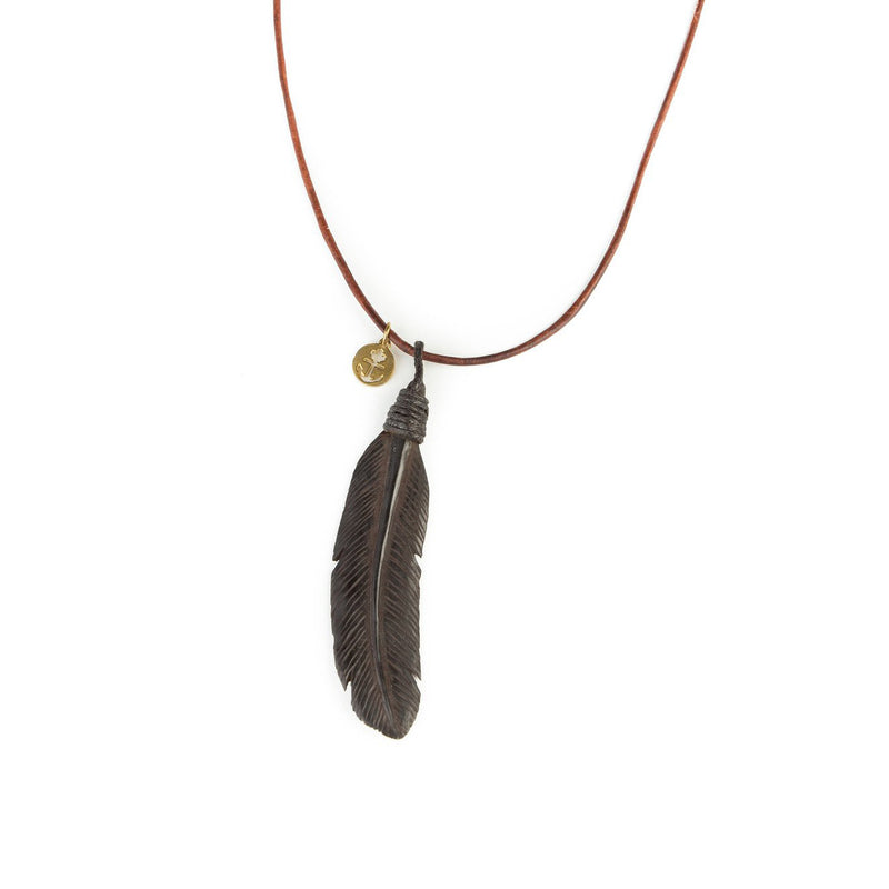 Jayasih Buffalo Feather Necklace