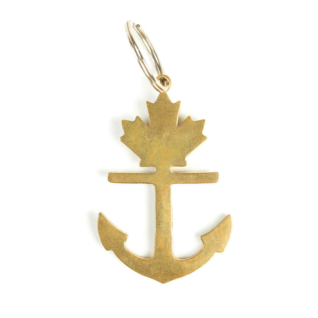 Classic Brass Anchor Keychain