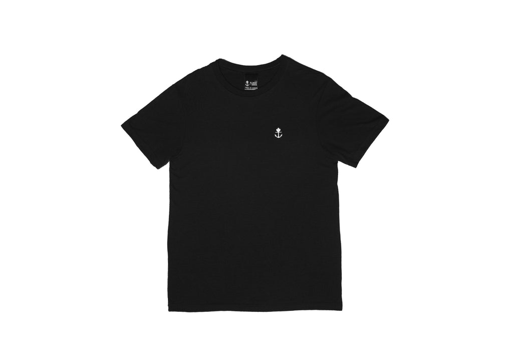 Simple Classic Black Embroidered T-Shirt