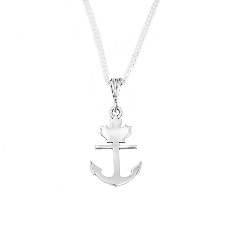 Classic Silver Anchor Necklace