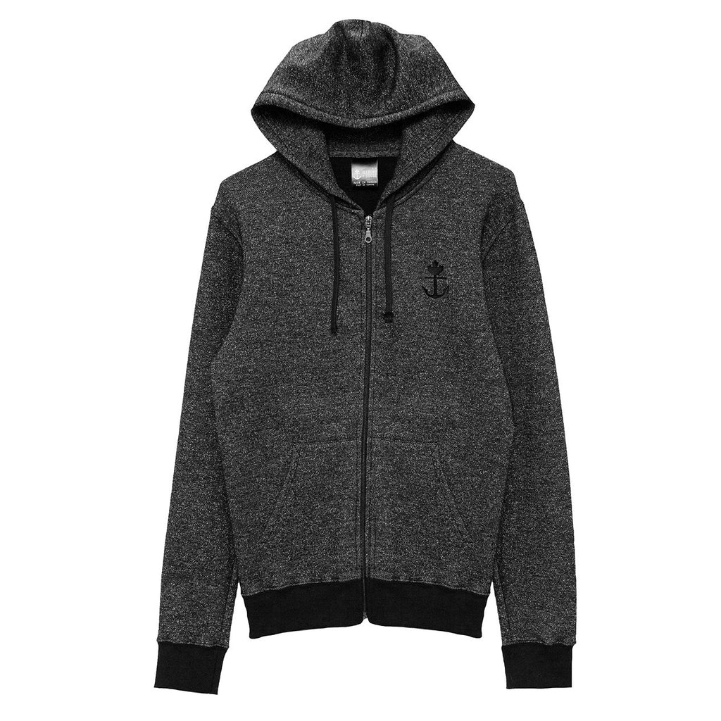 Classic Peppered Full Zip Hoodie