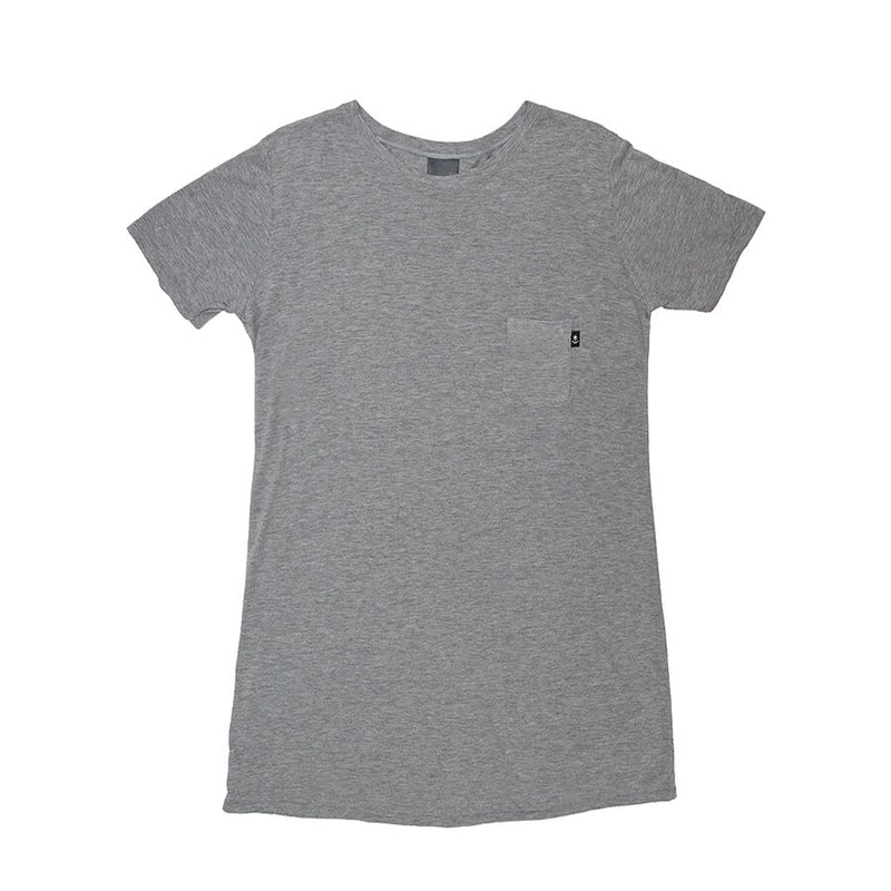 Women's Heather Grey T-shirt Dress
