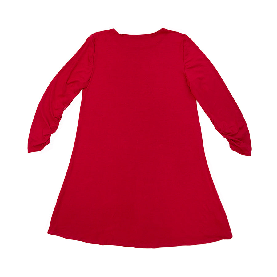 Red Long Sleeve Swing Dress x *Made to Order*