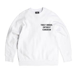 Heavy-duty White Standard Crewneck Sweater