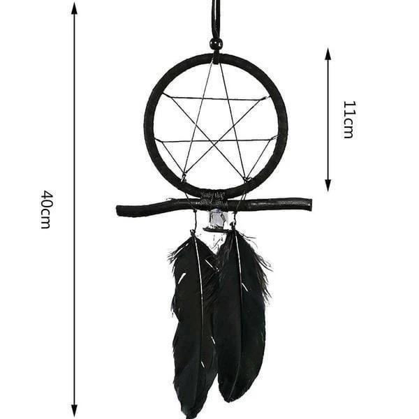 Attrape Rêve Noir Mysterious - DreamCatcher