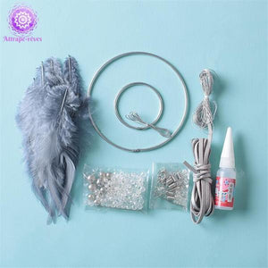 Kit attrape rêve DIY gris