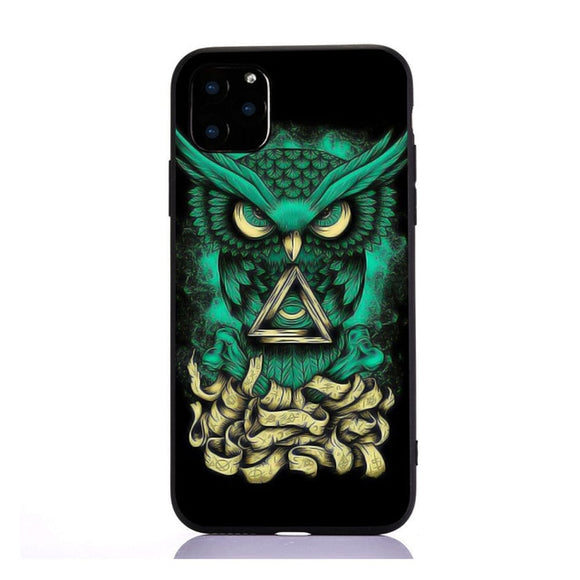 Coque iPhone SE attrape-rêve verte