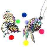 Collier Attrape Rêve Hiboux multicolore