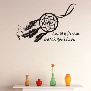 "Sticker mural attrape rêve ""Catch Your Love"""