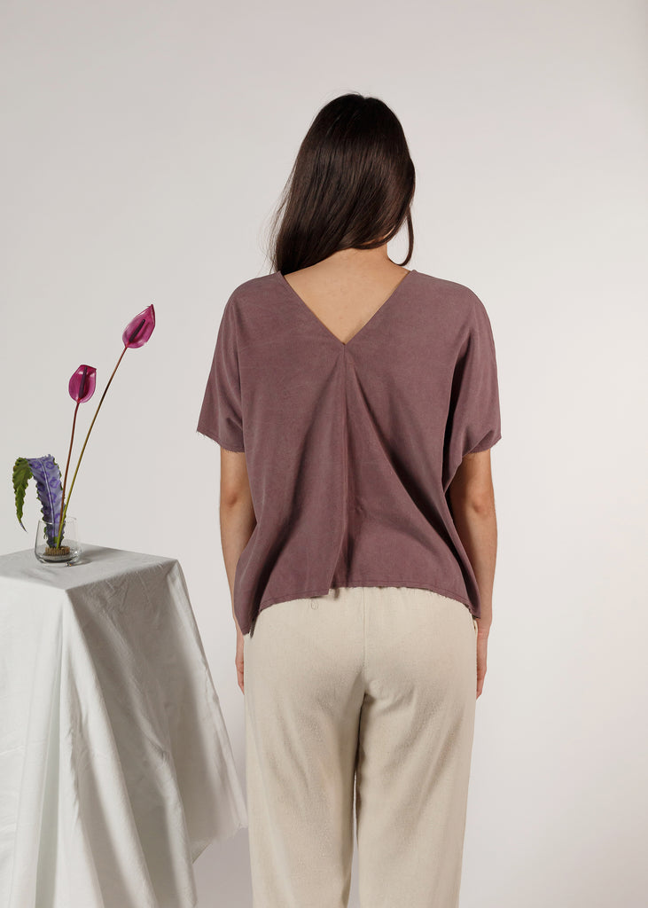 (Made to Order) The Butterfly Top in Noil: Amethyst