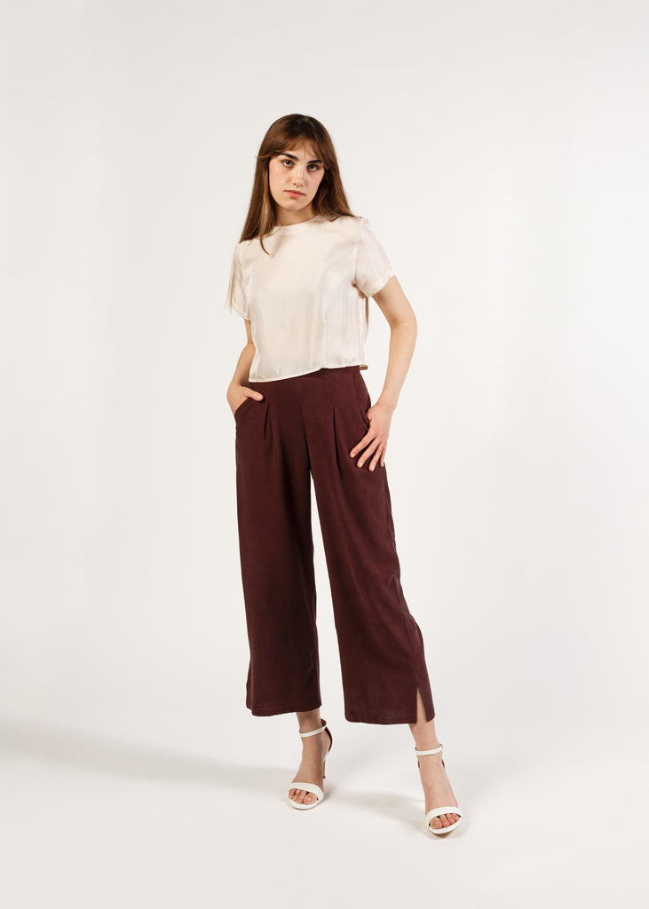 (Made to Order) The Pant: Merlot