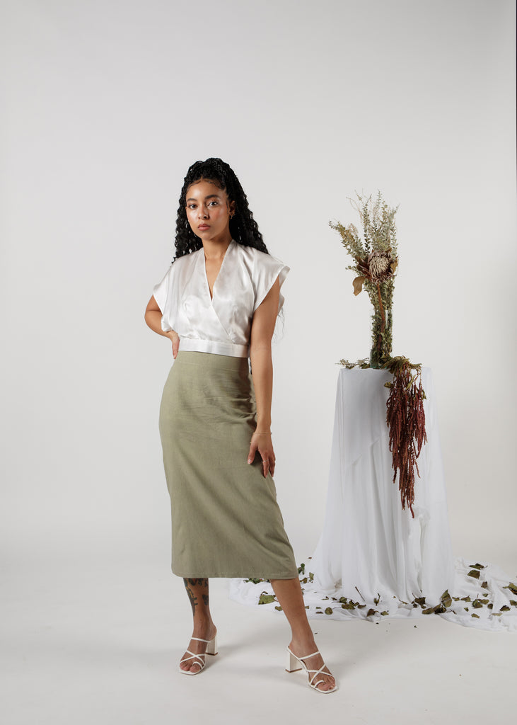 The A-Line Skirt in Noil: Garden Party