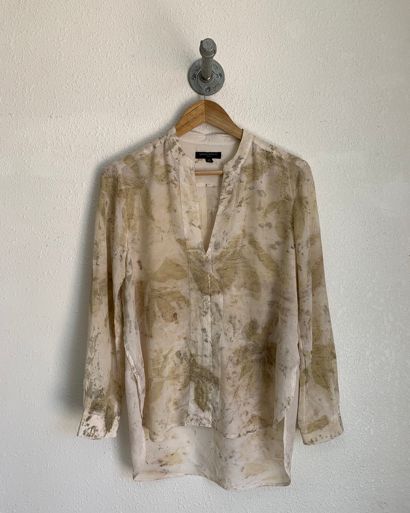 Upcycled Silk Long-sleeve Blouse