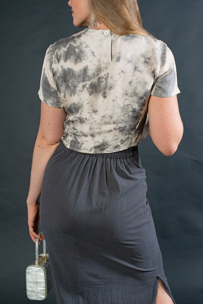 (Made to Order) The A-Line Skirt: Charcoal