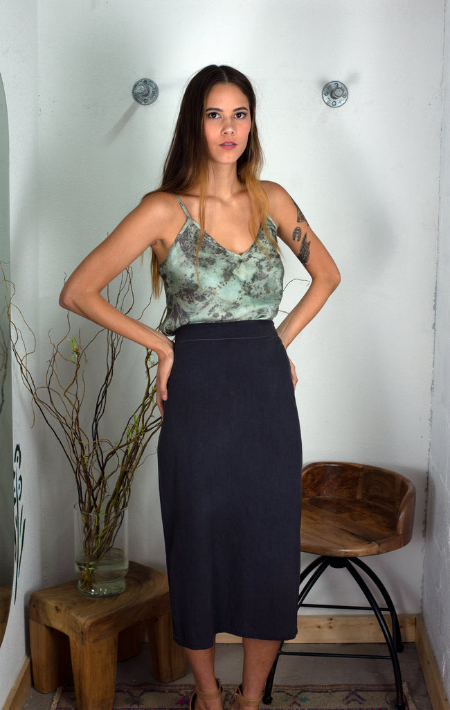 The Cami: Dark Moss Print