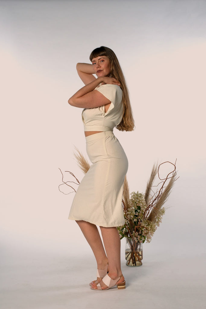 (Made to Order) The A-Line Skirt: White