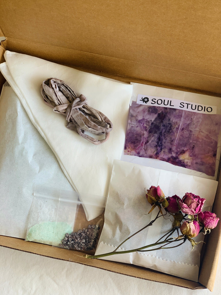 Natural Dye Kit: Bundle Dye (Pinks/Purple)