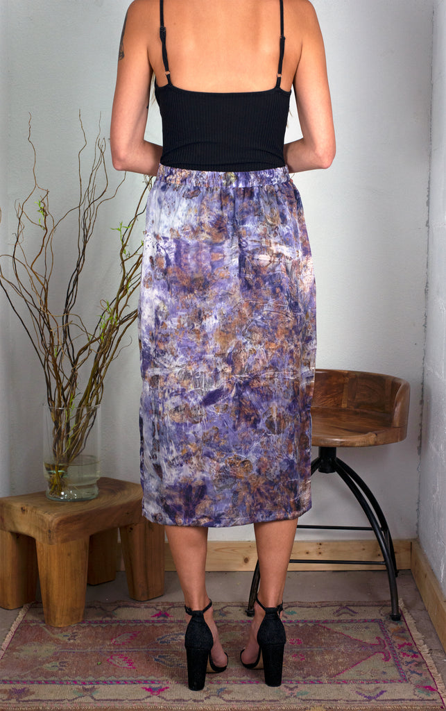 The A-Line Skirt: Purple Print