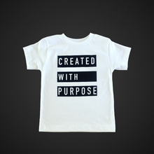 Load image into Gallery viewer, CREATED WITH PURPOSE KIDS TEE