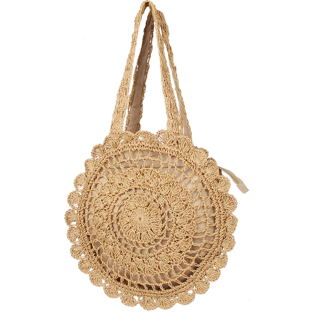 Straw Large Shoulder Woven Tote Handbags NW18011106