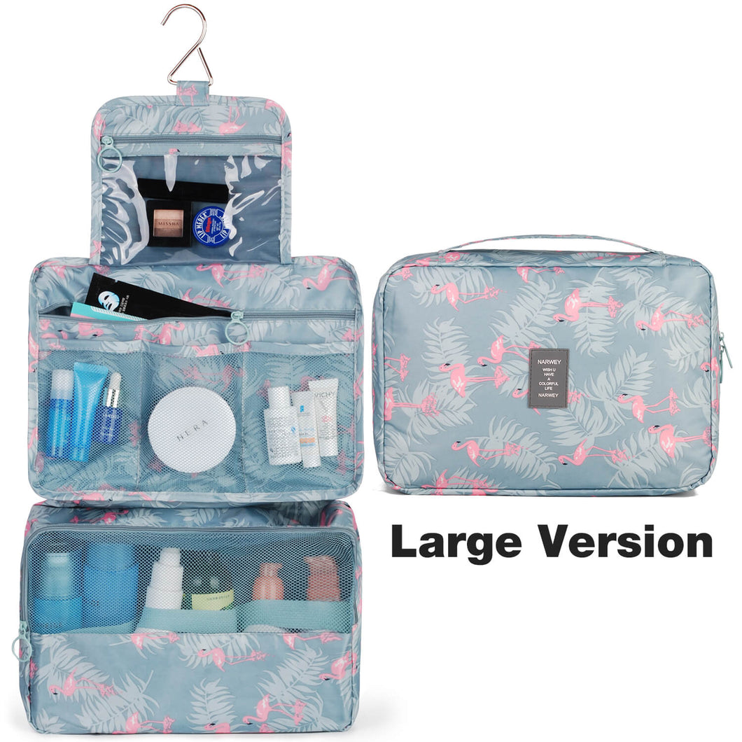Narwey 1114 Hanging Travel Toiletry Bag Flamingo Cosmetic Organizer