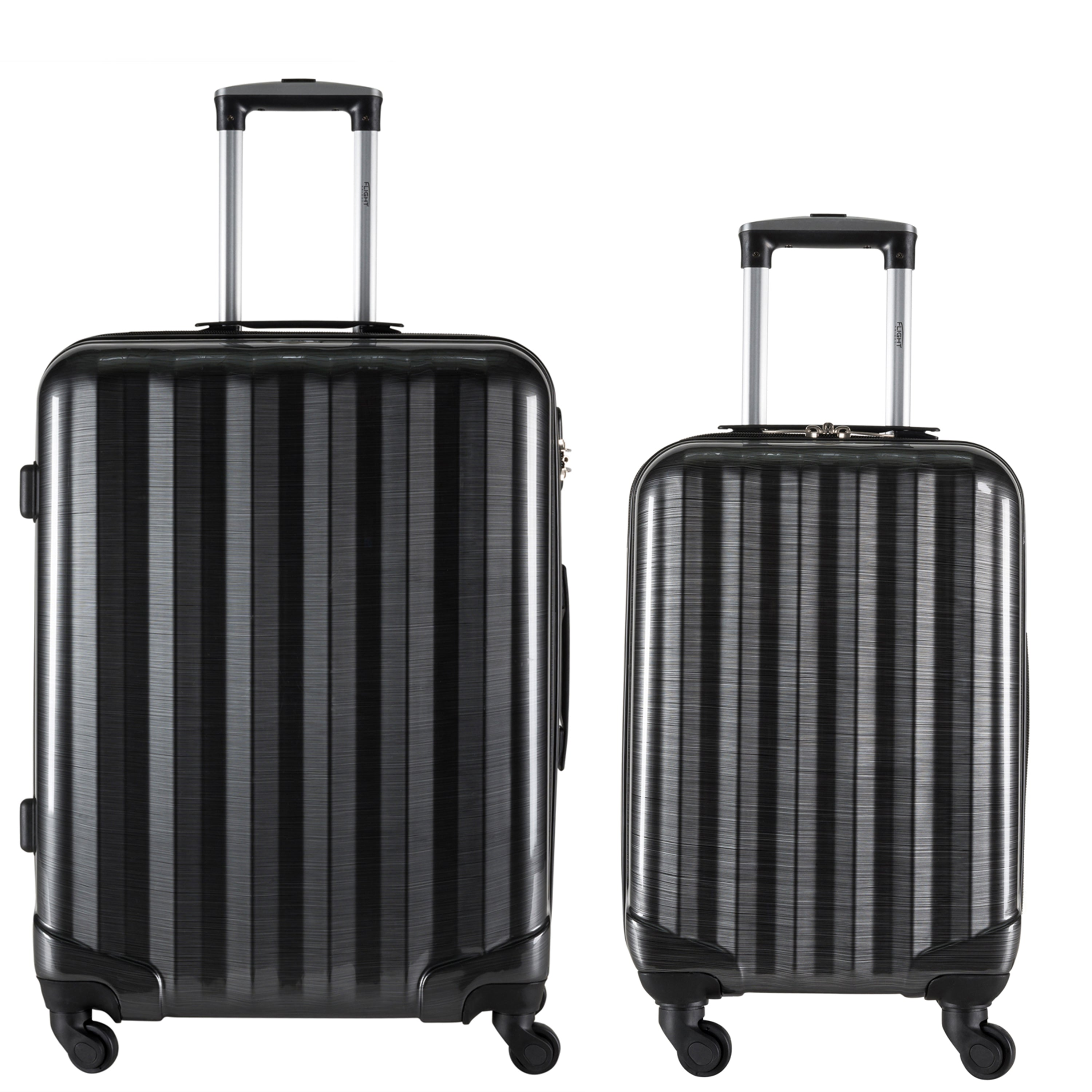 Ultra Lightweight 4 Wheel Hard Case Suitcases Hand Luggage and Hold Travel Bag