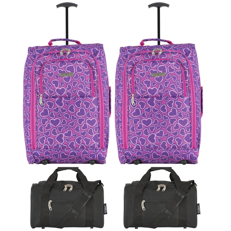 cabin - 21.5'' x 2 + holdall x 2|hearts