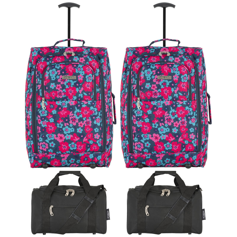 cabin - 21.5'' x 2 + holdall x 2|flowers